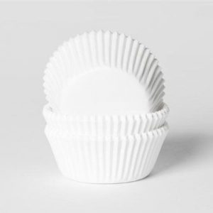 Caissettes à cupcake taille moyenne blanche House of Marie
